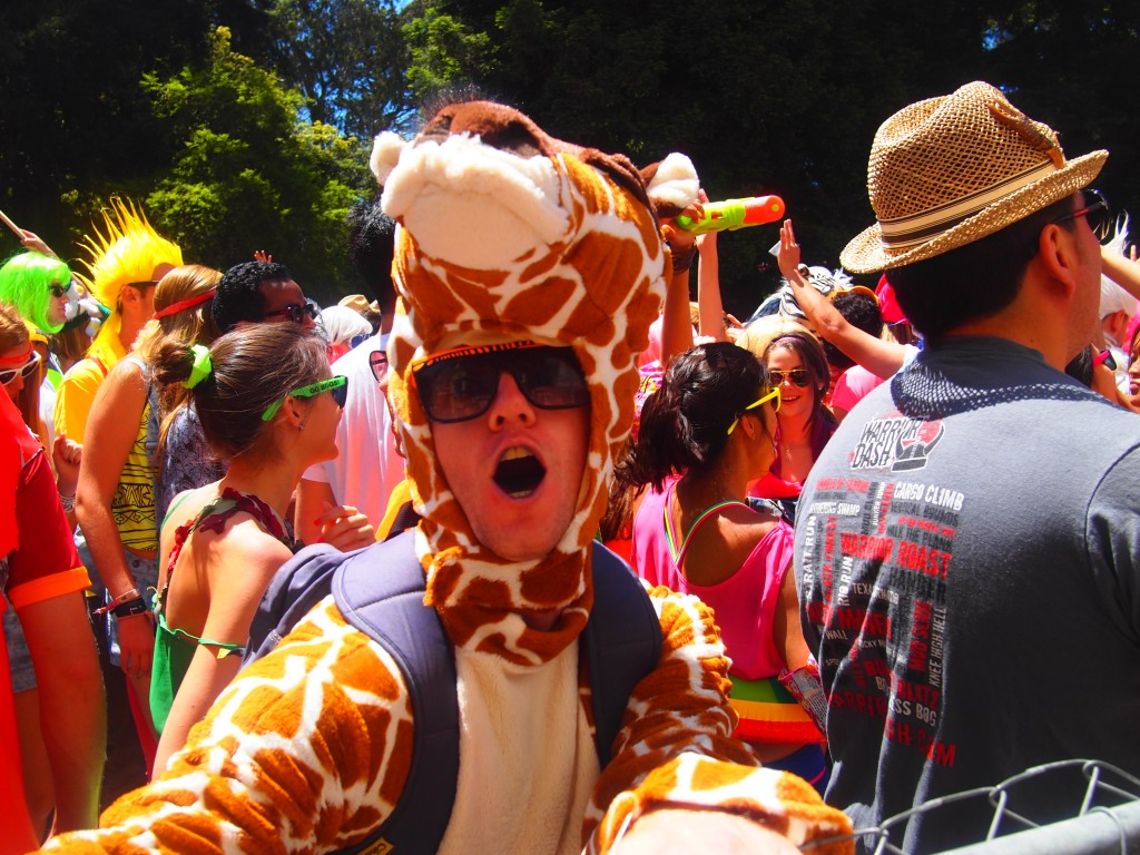 Brandon, obviously drunk, in a Giraffe Costume